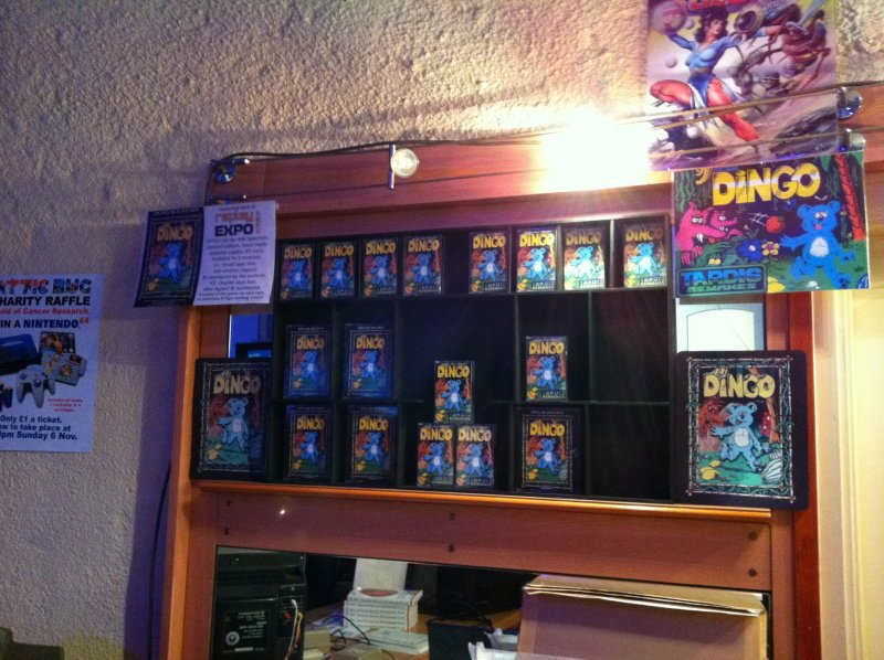The displaycase that held the copies. Most have been sold here.