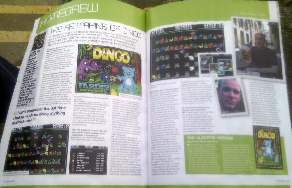 "We also had a prerelease copy of the Retro Gamer Magazine which has a ""Making Of"" article, courtesy the editor."