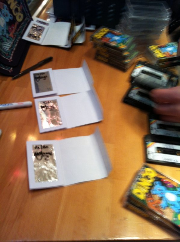 ...but before we could sell them we had to sign and number all of them. Hard work. :)