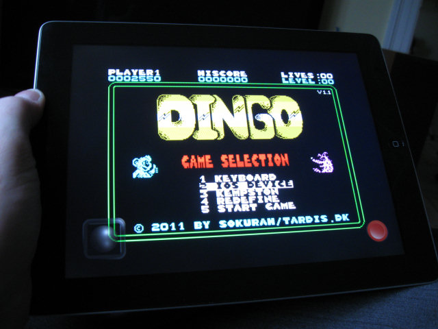 Dingo on iOS running under the Spectaculator emulator.