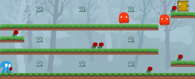 Screenshot of level 1 in the remake (without control panel)