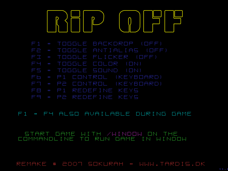 This is the options menu from my version.